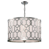 Libby Langdon for Crystorama Jennings 5 Light Polished Nickel Chandelier - 2266-PN