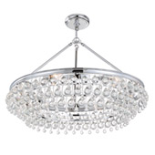Calypso 6 Light Crystal Teardrop Chrome Chandelier - Crystorama 275-CH