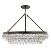 Calypso 6 Light Crystal Teardrop Bronze Chandelier - Crystorama 275-VZ