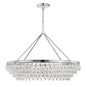 Calypso 8 Light Crystal Teardrop Chrome Chandelier - Crystorama 278-CH