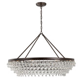 Calypso 8 Light Crystal Teardrop Vibrant Bronze Chandelier - Crystorama 278-VZ