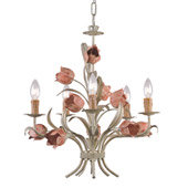 Southport 5 Light Sage Rose Chandelier - Crystorama 4805-SR