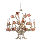 Southport 8 Light Chandelier - Crystorama 4808-SR