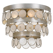 Coco 4 Light Antique Silver Ceiling Mount - Crystorama 6000-SA