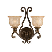 Traditional Norwalk 2 Light Bronze Umber Sconce - Crystorama 7402-BU