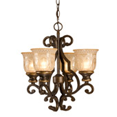 Traditional Norwalk 4 Light Bronze Mini Chandelier - Crystorama 7404-BU