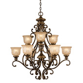 Traditional Norwalk 9 Light Bronze Umber Chandelier - Crystorama 7409-BU