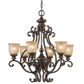 Traditional Norwalk 6 Light Bronze Umber Chandelier - Crystorama 7416-BU
