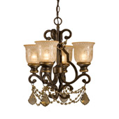 Traditional Norwalk 4 Light Golden Teak Crystal Bronze Mini Chandelier - Crystorama 7504-BU-GT-MWP