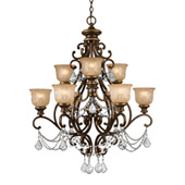 Traditional Norwalk 9 Light Clear Crystal Bronze Umber Chandelier - Crystorama 7509-BU-CL-MWP