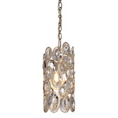 Sterling 1 Light Distressed Twilight Pendant - Crystorama 7580-DT
