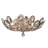 Sterling 3 Light Distressed Twilight Ceiling Mount - Crystorama 7583-DT