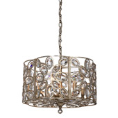 Sterling 6 Light Distressed Twilight Chandelier - Crystorama 7586-DT