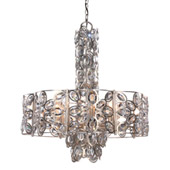 Sterling 8 Light Distressed Twilight Chandelier - Crystorama 7588-DT