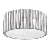 Libby Langdon for Crystorama Masefield 2 Light Antique Silver Ceiling Mount - 9010-SA