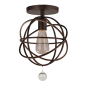 Industrial Solaris 1 Light Bronze Ceiling Mount - Crystorama 9220-EB_CEILING