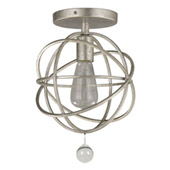 Industrial Solaris 1 Light Silver Ceiling Mount - Crystorama 9220-OS_CEILING