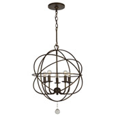 Industrial Solaris 5 Light English Bronze Mini Chandelier - Crystorama 9224-EB