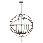 Industrial Solaris 9 Light Bronze Sphere Chandelier - Crystorama 9229-EB