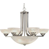 Transitional Fireside Nine Light Chandelier - Dolan Designs 205-09