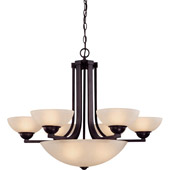 Transitional Fireside Nine Light Chandelier - Dolan Designs 205-78