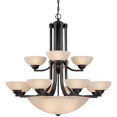 Transitional Fireside Fifteen Light Chandelier - Dolan Designs 206-78
