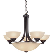Transitional Fireside Eight Light Chandelier - Dolan Designs 208-78