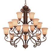 Traditional Medici Fifteen Light Chandelier - Dolan Designs 2093-133