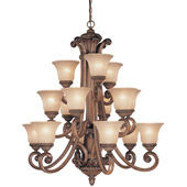 Traditional Carlyle Fifteen Light Chandelier - Dolan Designs 2403-54
