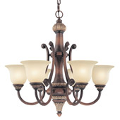 Traditional Bonita Six Light Chandelier - Dolan Designs 2640-211