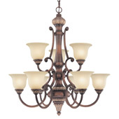 Traditional Bonita Nine Light Chandelier - Dolan Designs 2642-211