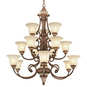 Traditional Bonita Fifteen Light Chandelier - Dolan Designs 2643-211
