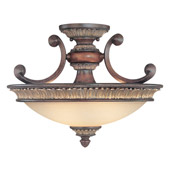 Traditional Bonita Semi-Flush Ceiling Fixture - Dolan Designs 2645-211