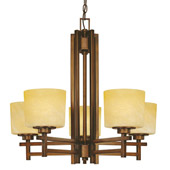 Transitional Roxbury Five Light Chandelier - Dolan Designs 2810-133