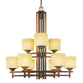 Transitional Roxbury Nine Light Chandelier - Dolan Designs 2812-133