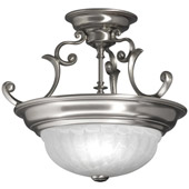 Transitional Richland Semi-Flush Ceiling Fixture - Dolan Designs 524-09
