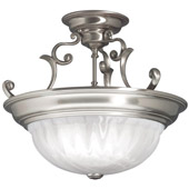 Transitional Richland Semi-Flush Ceiling Fixture - Dolan Designs 525-09