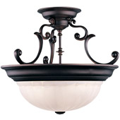 Traditional Richland Semi-Flush Ceiling Fixture - Dolan Designs 525-30