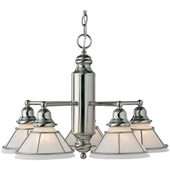 Transitional Craftsman Five Light Chandelier - Dolan Designs 625-09
