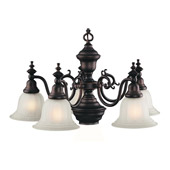 Traditional Richland Six Light Chandelier - Dolan Designs 660-30