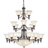 Traditional Richland Twenty-Six Light Chandelier - Dolan Designs 663-30