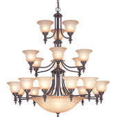 Traditional Richland Twenty-Six Light Chandelier - Dolan Designs 663-78