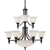 Traditional Richland Fourteen Light Chandelier - Dolan Designs 664-30