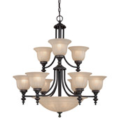 Traditional Richland Fourteen Light Chandelier - Dolan Designs 664-78