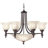 Traditional Richland Nine Light Chandelier - Dolan Designs 665-30