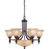 Traditional Richland Nine Light Chandelier - Dolan Designs 665-78