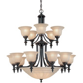 Traditional Richland Twenty Light Chandelier - Dolan Designs 668-78