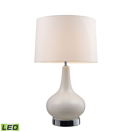 ELK Home 3935/1-LED Mary Kate & Ashley Continuum Mary-Kate And Ashley LED Table Lamp In White And Chrome