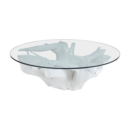 ELK Home 7011-005 Yava White Teak Root Coffee Table