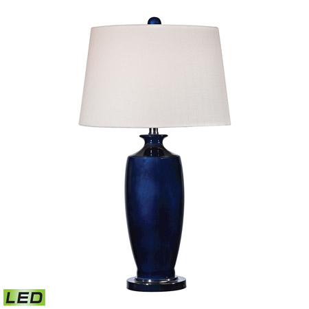 ELK Home D2524-LED Halisham Ceramic LED Table Lamp in Navy Blue
